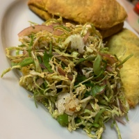 Shaved Brussel Sprouts Escovitch Slaw