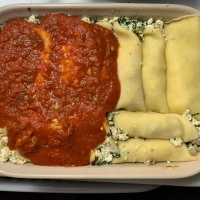 Spinach and Artichoke Chicken Manicotti
